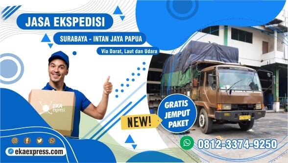 Ekspedisi Murah Surabaya Intan Jaya Terbaik WA 0812-3374-9250